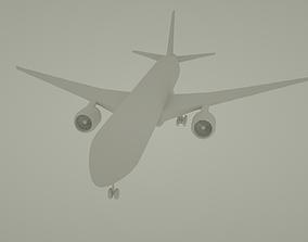 3D asset Boeing 777-300 er