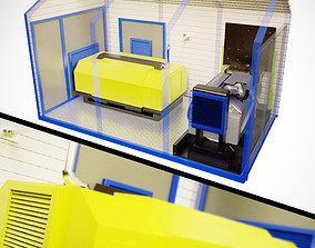Compressor block container 3D