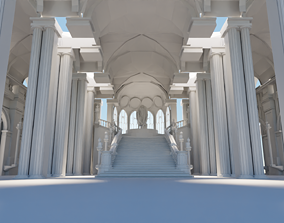 medieval palace 3D model realtime