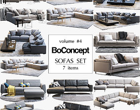 Boconcept 7 sofas set 3D model