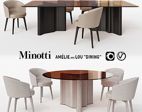 3D model Minotti Amelie and Lou Dining