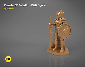ELF PALADIN FEMALE CHARACTER GAME 3D printable model