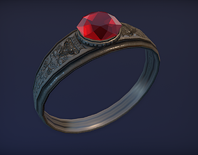 game-ready Ancient Silver Ring - PBR Game Ready model
