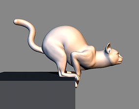 Cat before jumping 3D print model