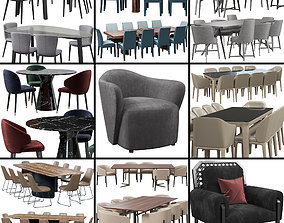 Chairs set 3 3D