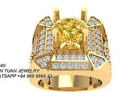 640 Diamond Men Ring 3D print model