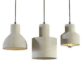 Maytoni Broni hanging lamp set 3D model