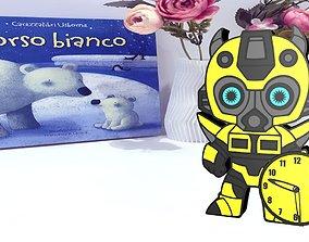 Bumblebee Clock 3D print model
