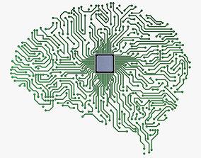 Electronic Circuit Board Brain v 1 3D model