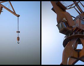 3D model game-ready Crane
