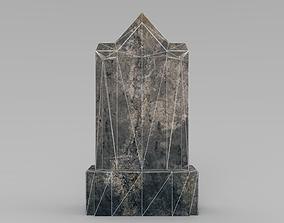 3D model game-ready Lowpoly Gravestone