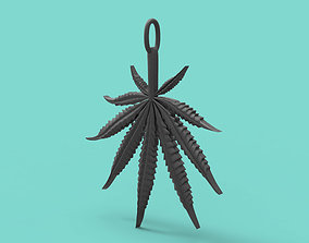 3D 2 inch 9 Leaf Hemp pendant