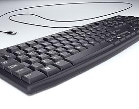 Logitech computer usb keyboard 3D