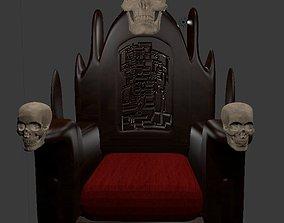 3D model Skull Throne