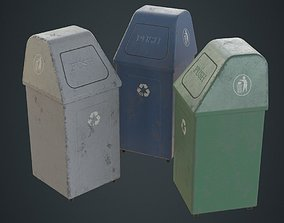 Dustbin 5B 3D asset