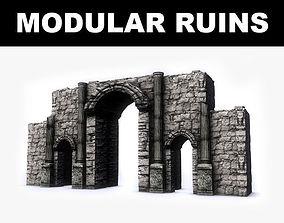 Modular Ruins Kit 3D asset