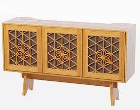 3D model Kumiko Media Cabinet