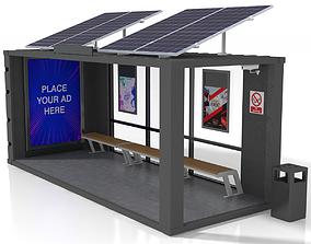 3D asset 20 Feet Container Bus Stop