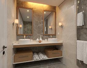 Sketchup V-ray Next Bathroom Scene 3D model