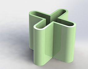 X Pen Holder Simple 3D printable model