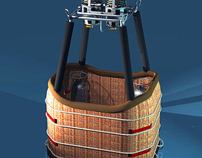 3D Balloon basket and gas tank
