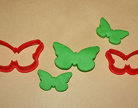 3D print model TWO BUTTERFLIES - COOKIE CUTTER