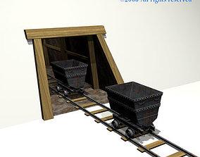 3D model Mine cave