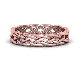 Braided Celtic Ring many finger sizes 3d model 0290