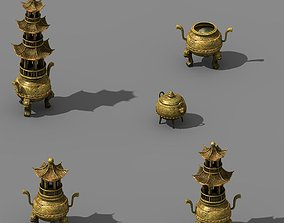 Dynasty Elven Mountain Range - Incense burner 3D model