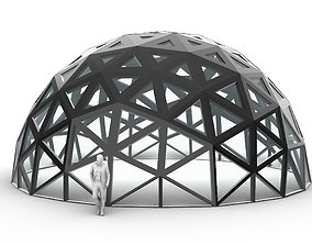 3D model Geodesic Dome with Dynamic Perforations 2
