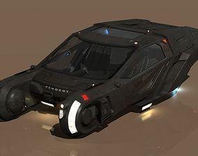 3D Blade-Runner 2049 Peugeot Police Spinner update