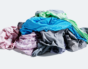 game-ready Pile of Clothes on the Ground 3D Scanned