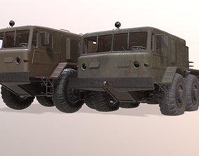 MAZ-537 military truck 3D model