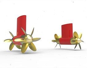 Flexibel azimuth thruster 3D