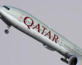 3D model Boeing 777-9x Qatar
