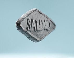 Drop Black Salt Candy 3D asset