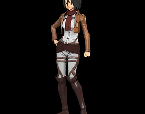 Mikasa 3d from attack on titan rigged