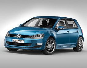 3D model Volkswagen Golf MK7 2013