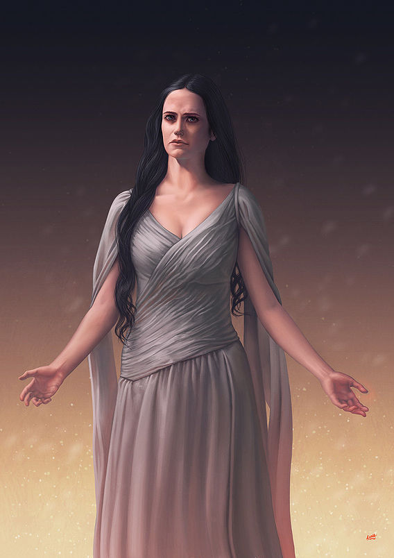 Penny Dreadfull - Vanessa Ives - Eva Green - Digital Painting by Lunart