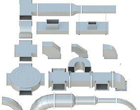 VR / AR ready Ceiling Ventilation - 27 3D models