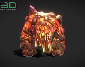 3D model Fantasy RPG Fire Golem