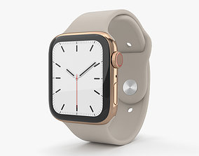 Apple Watch Series 5 44mm Gold SS Case with Sport Band 3D