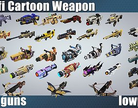 3D model weapon pack vol01 Scifi cartoon weapon