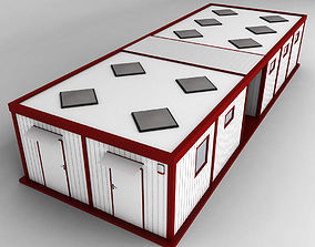 3D model Container Double Shipping House