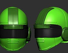 helmet high ver 3 poly sculpt 3d printable sci-fi