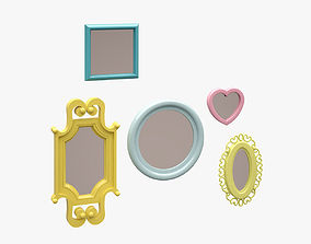 Mirrors Set 3D asset