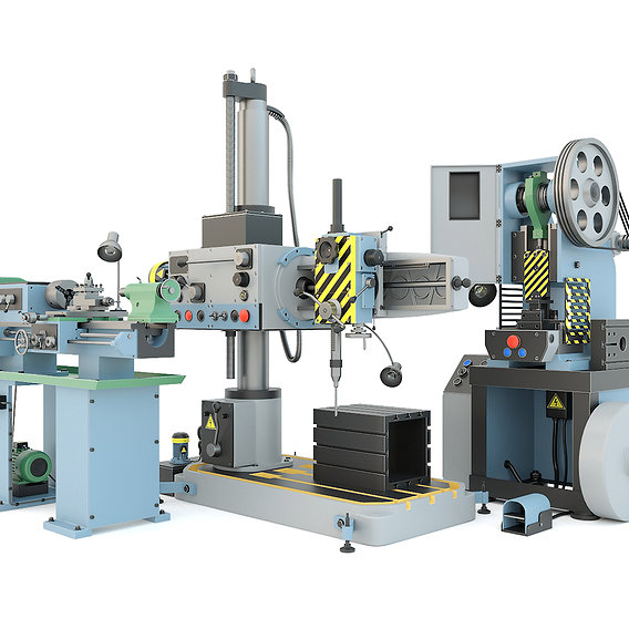 Industrial machine tool - Mechanical press, Turning machine, Drilling press - Collection one