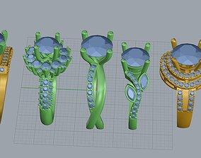 ring jewelry 3D print model 3D model