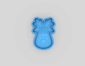 3D printable model Christmas deep cookie cutter