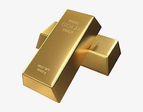 3D Gold bars 04